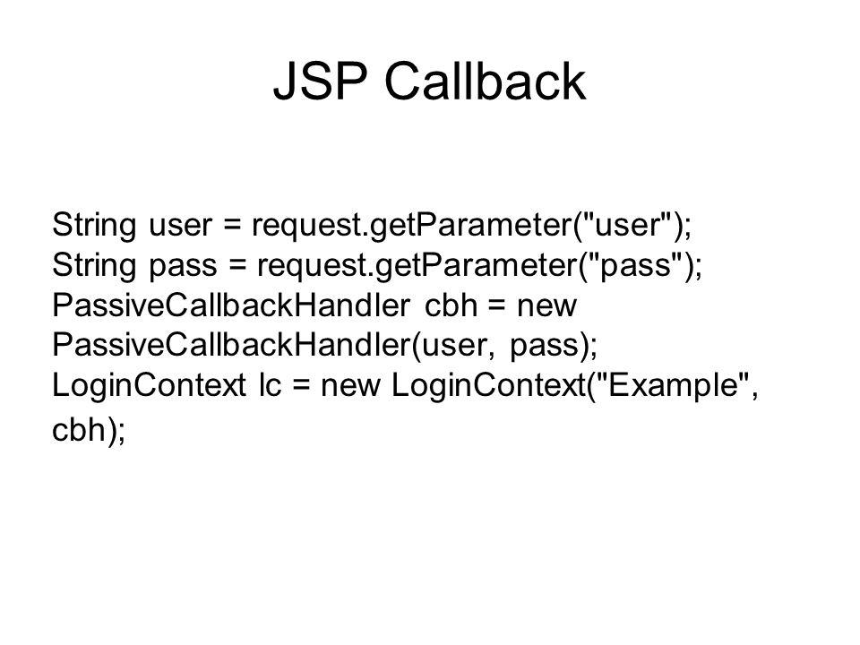 JSP Callback