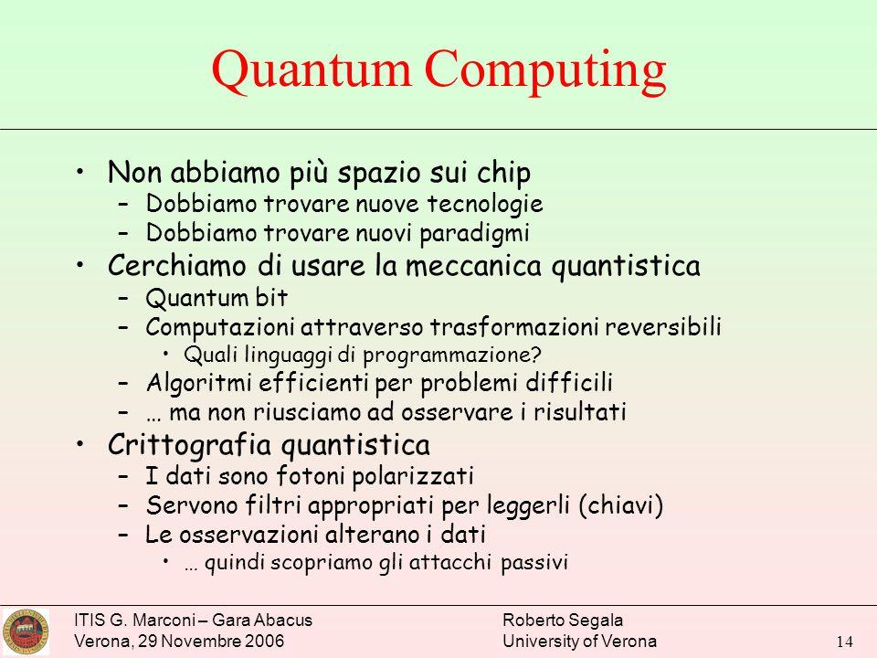 Quantum Computing Non abbiamo più spazio sui chip