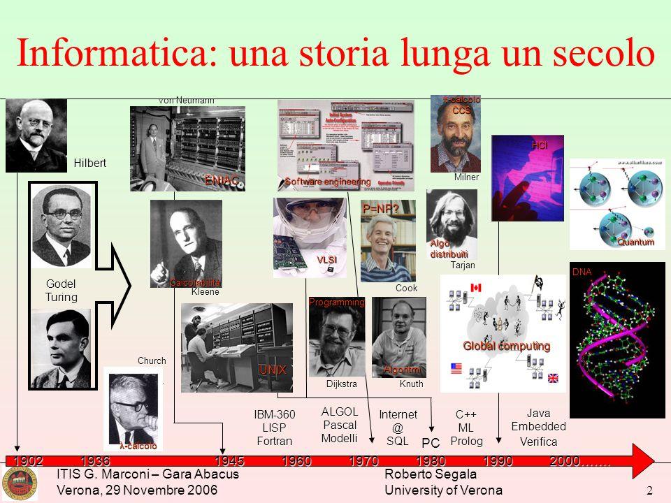 Informatica: una storia lunga un secolo