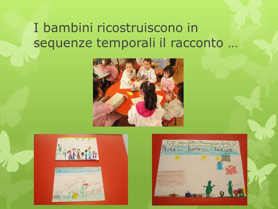 I bambini ricostruiscono in sequenze temporali il racconto …