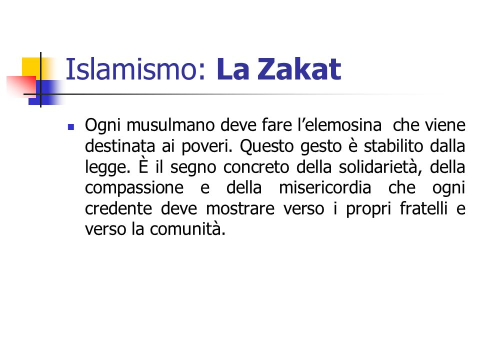 Islamismo: La Zakat