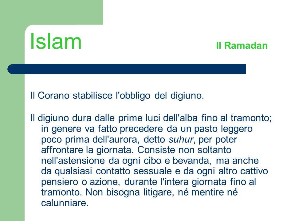 Islam Il Ramadan Il Corano stabilisce l obbligo del digiuno.