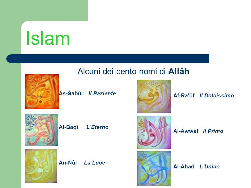 Alcuni dei cento nomi di Allâh
