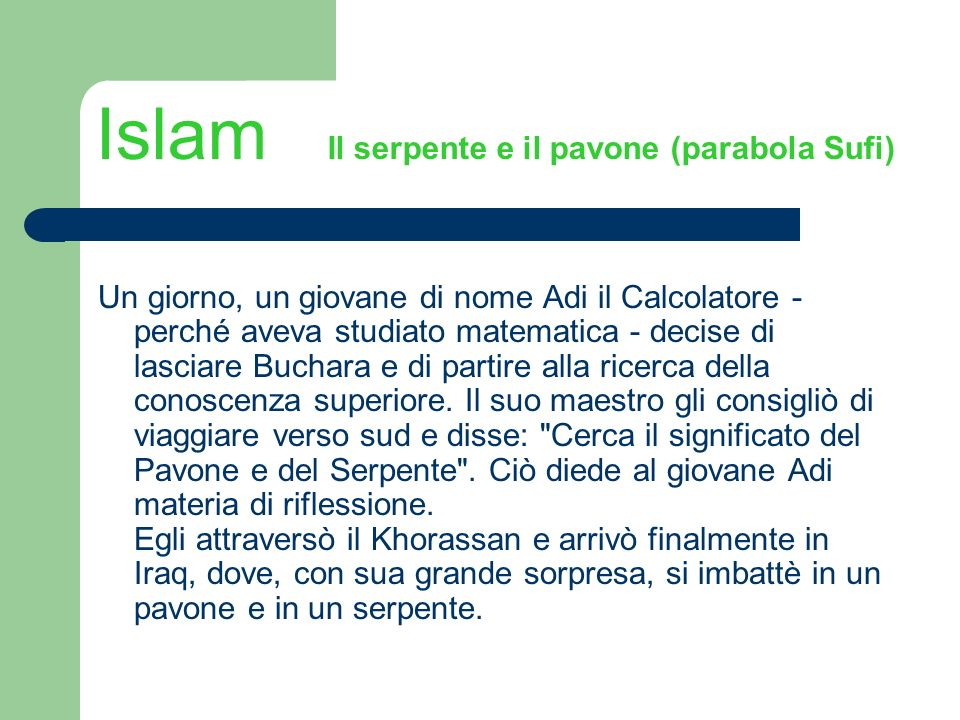 Islam Il serpente e il pavone (parabola Sufi)