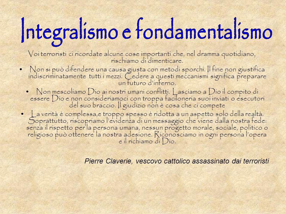 Integralismo e fondamentalismo
