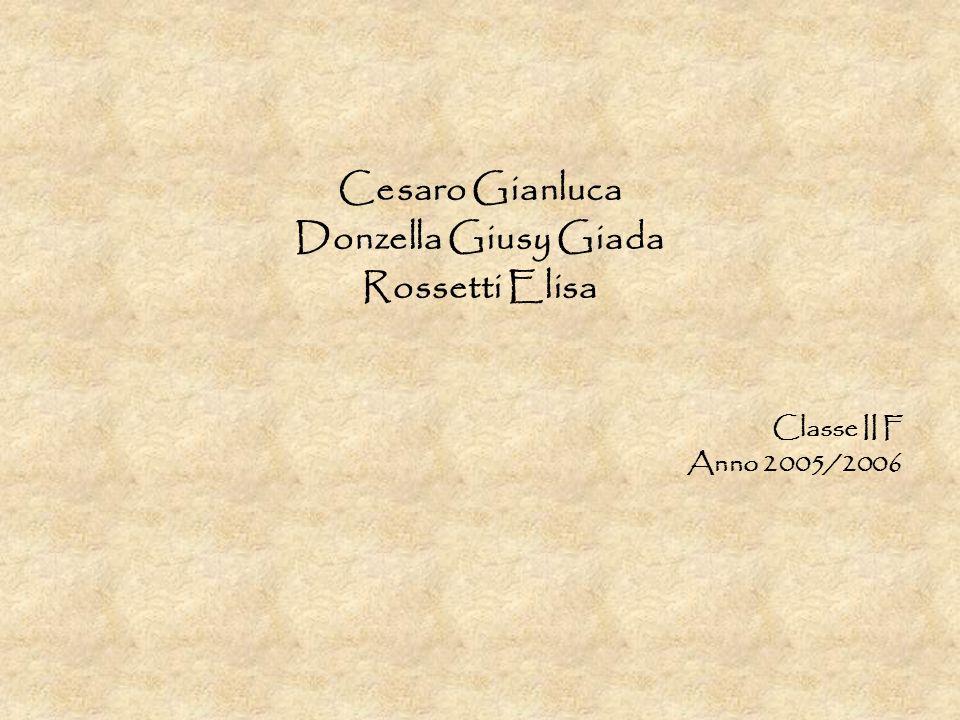 Cesaro Gianluca Donzella Giusy Giada Rossetti Elisa