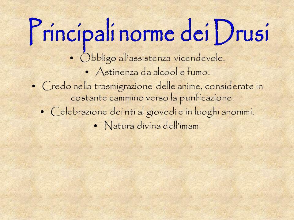 Principali norme dei Drusi