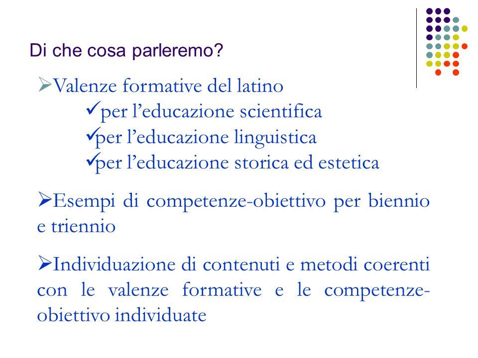 Valenze formative del latino per l'educazione scientifica