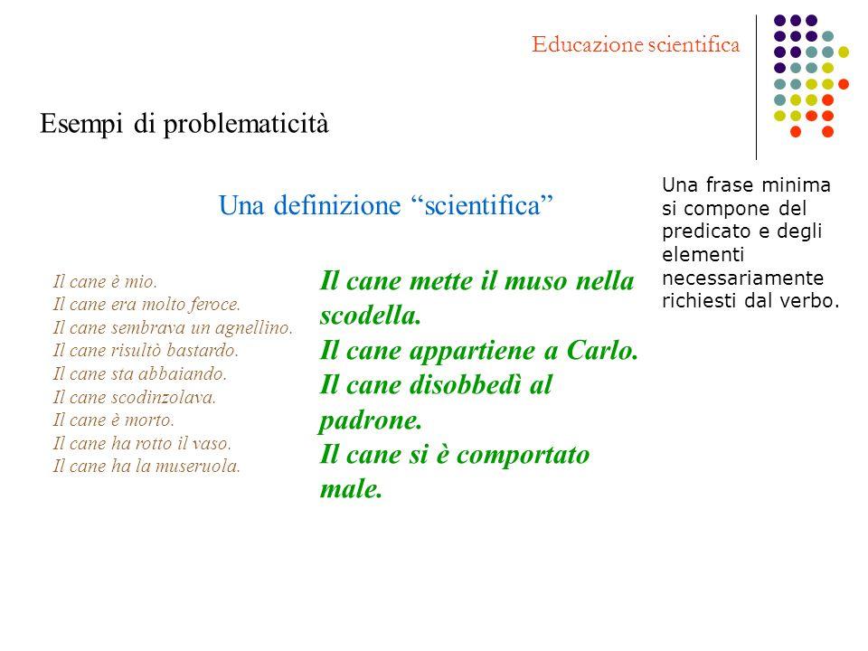 Una definizione scientifica