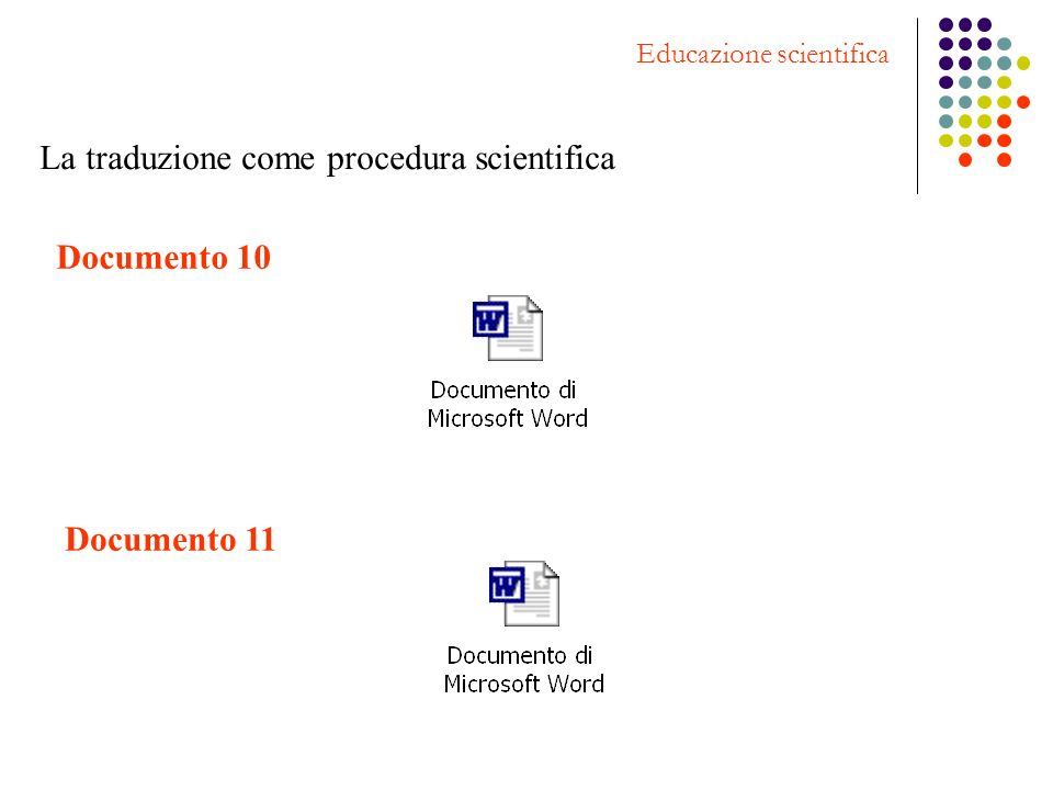 La traduzione come procedura scientifica