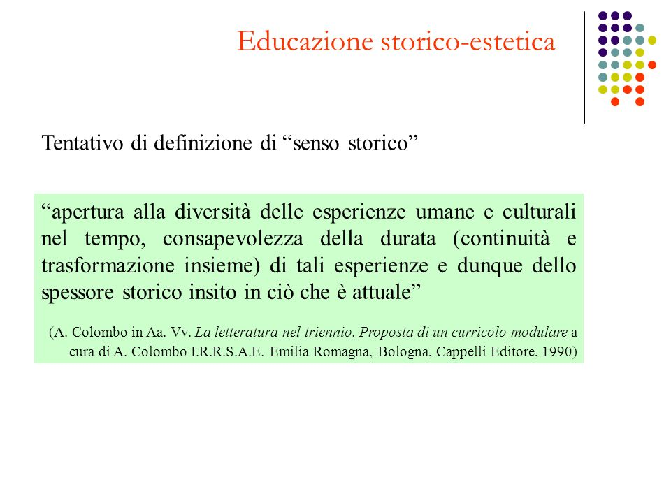 Educazione storico-estetica