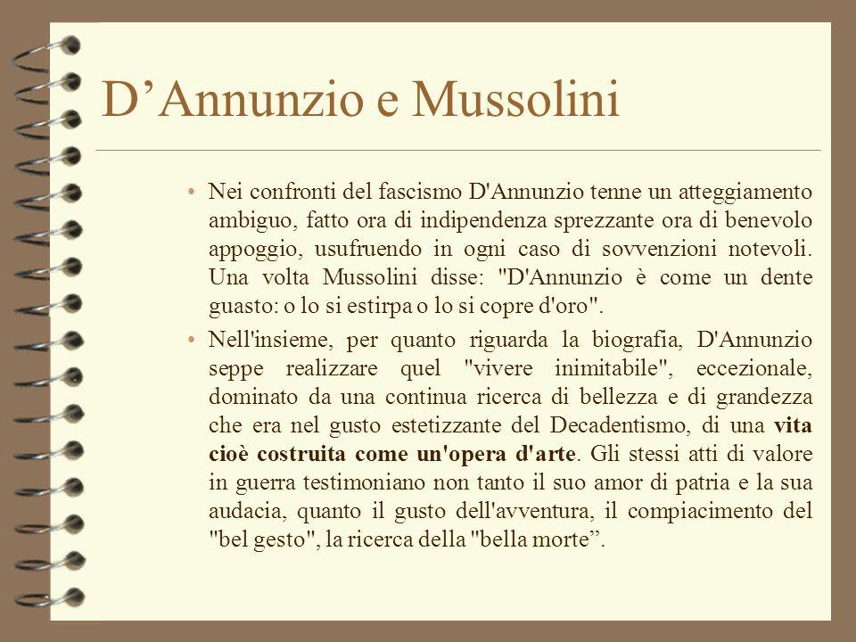 D'Annunzio e Mussolini