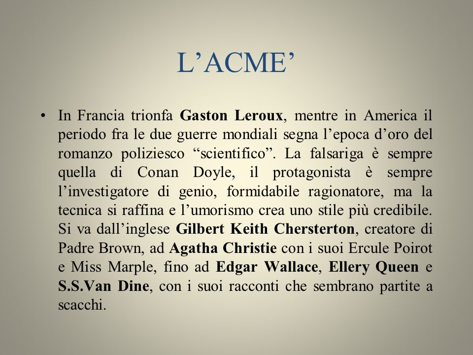 L'ACME'