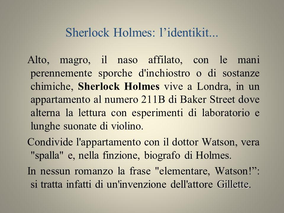 Sherlock Holmes: l'identikit...