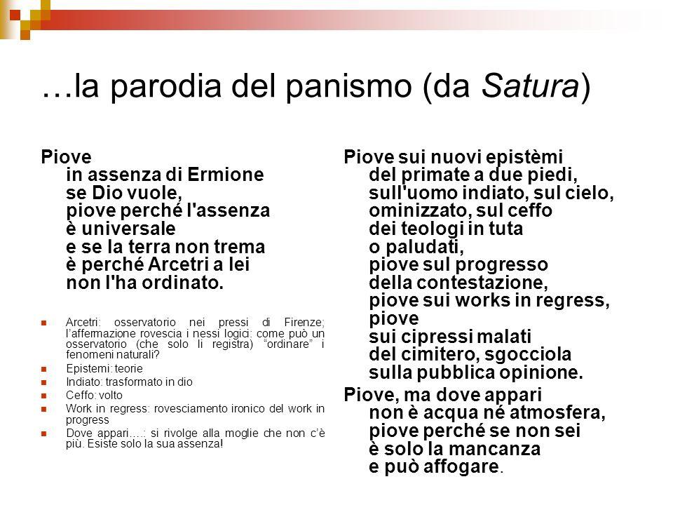 …la parodia del panismo (da Satura)