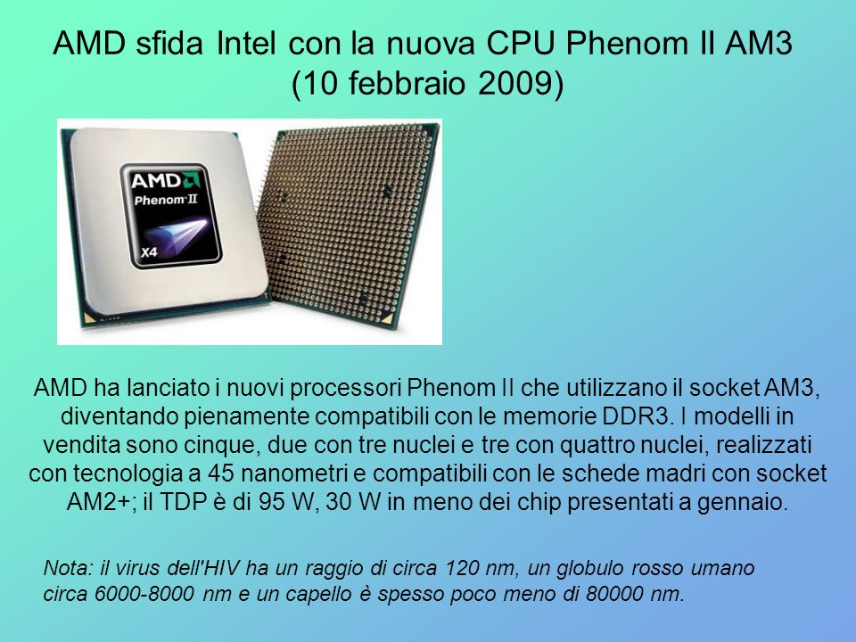 AMD sfida Intel con la nuova CPU Phenom II AM3
