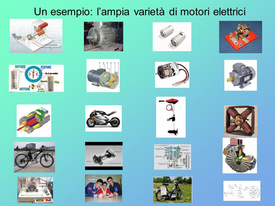 Un esempio: l'ampia varietà di motori elettrici