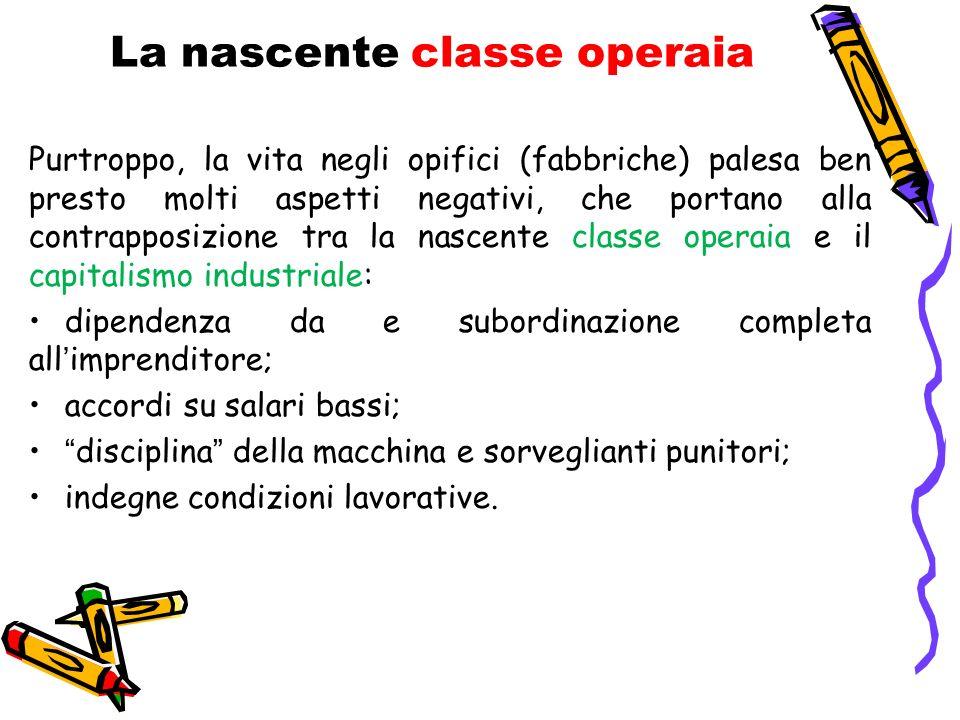 La nascente classe operaia