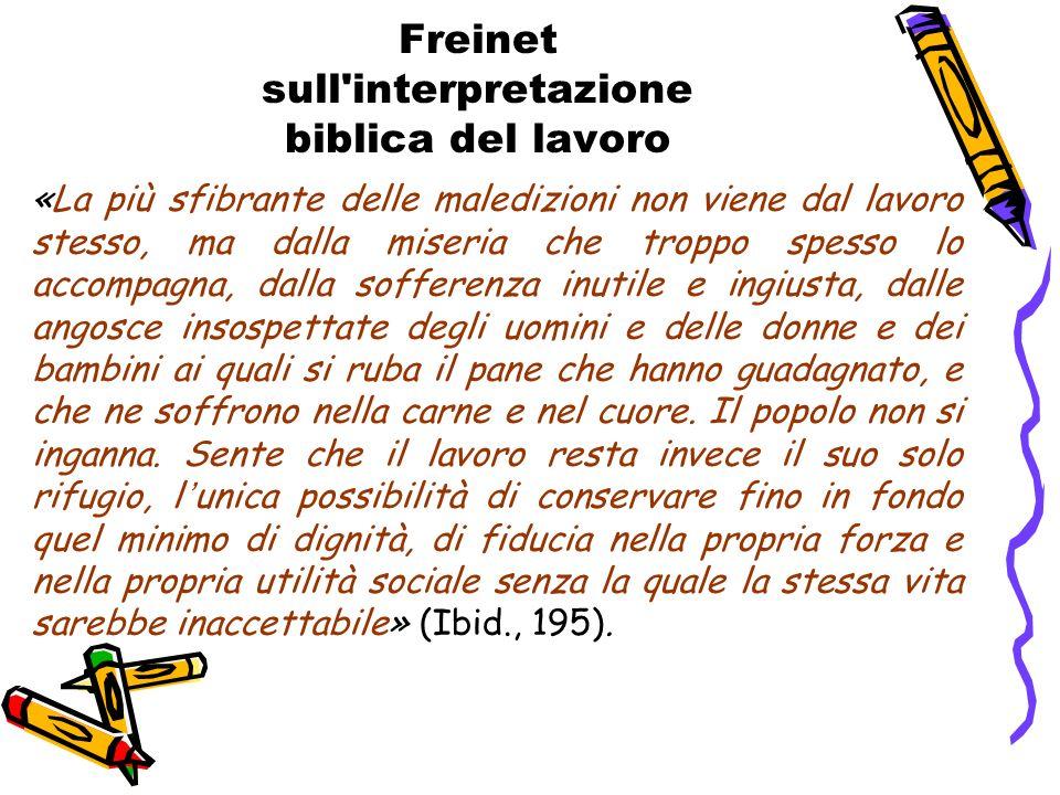 Freinet sull interpretazione biblica del lavoro