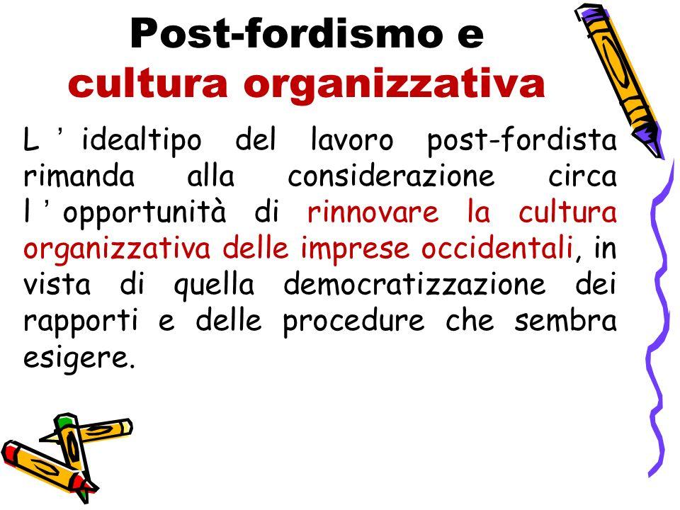 Post-fordismo e cultura organizzativa