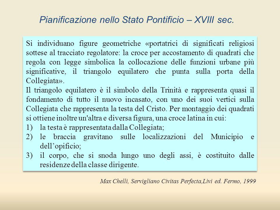 Pianificazione nello Stato Pontificio – XVIII sec.