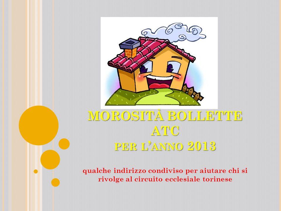 MOROSITÀ BOLLETTE ATC per l'anno 2013