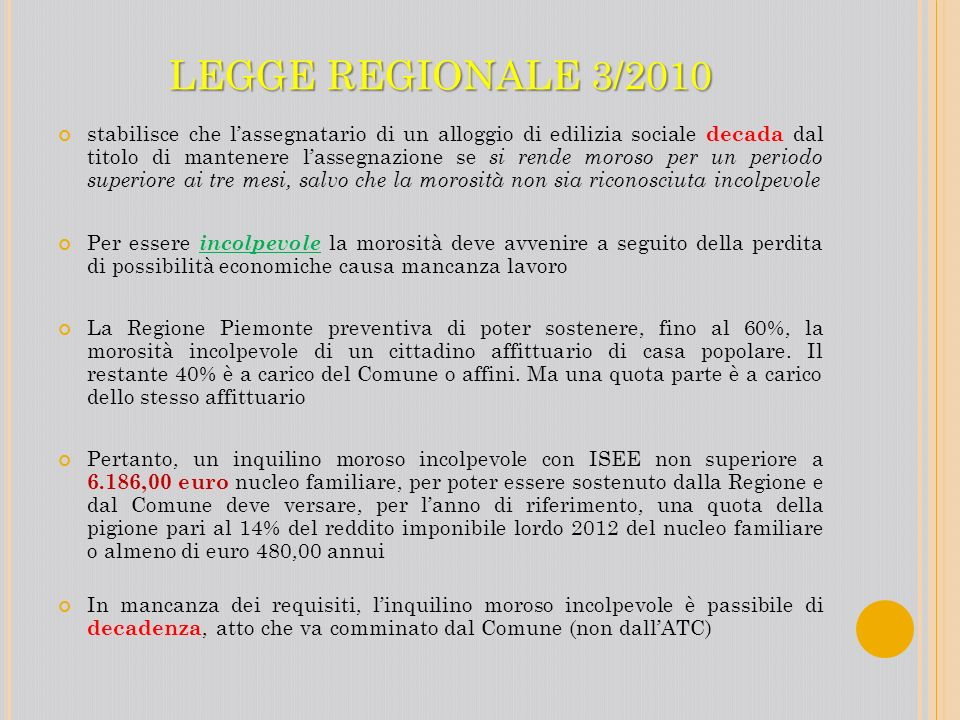 LEGGE REGIONALE 3/2010