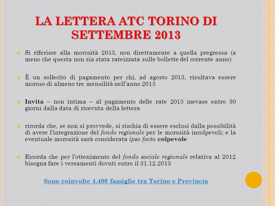 LA LETTERA ATC TORINO DI SETTEMBRE 2013