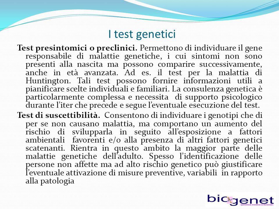 I test genetici