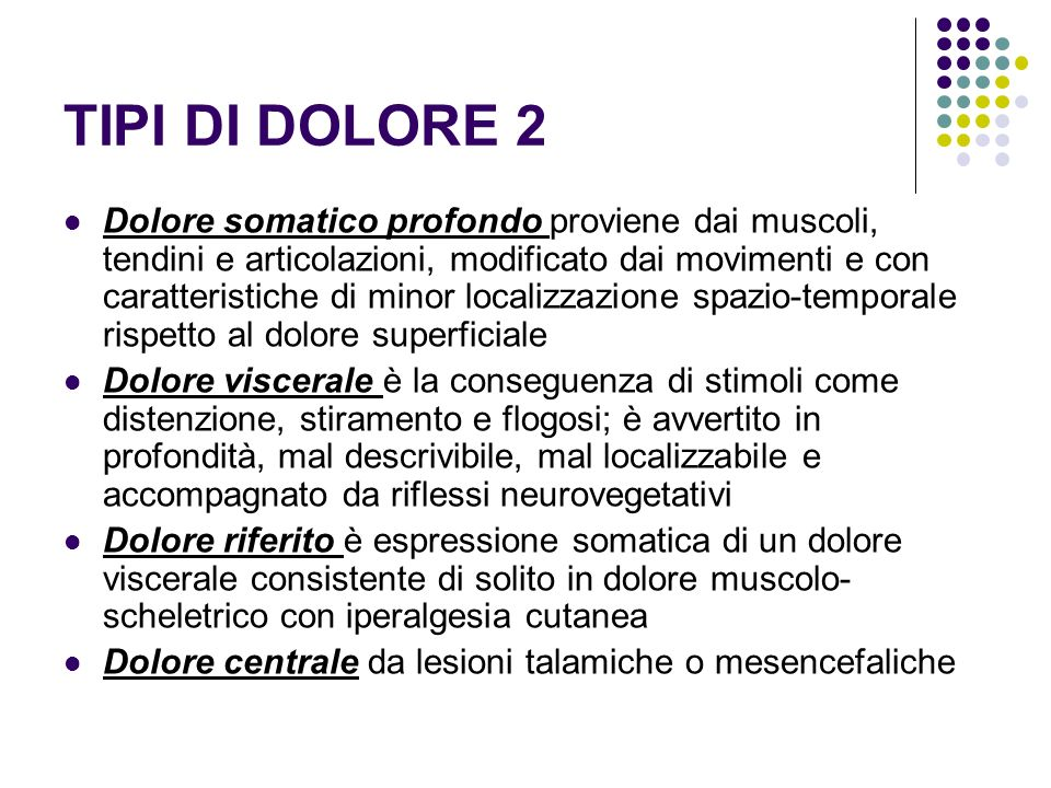 TIPI DI DOLORE 2
