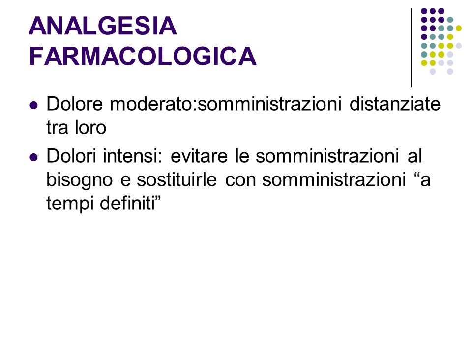 ANALGESIA FARMACOLOGICA