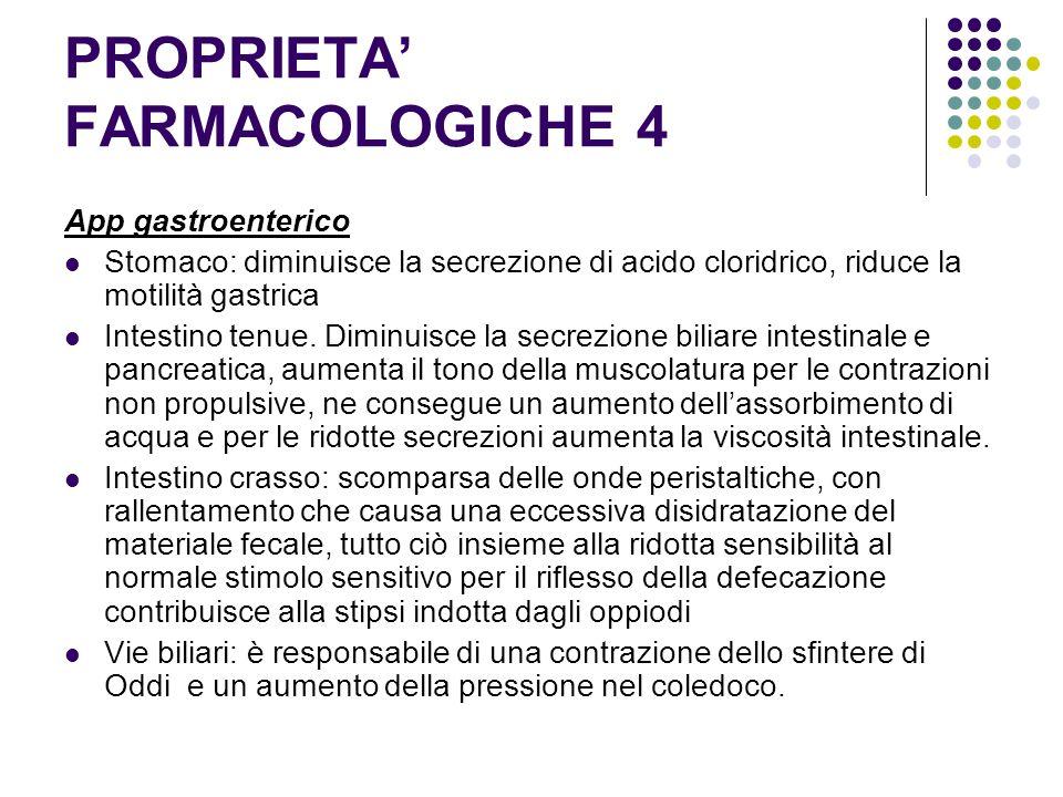 PROPRIETA' FARMACOLOGICHE 4