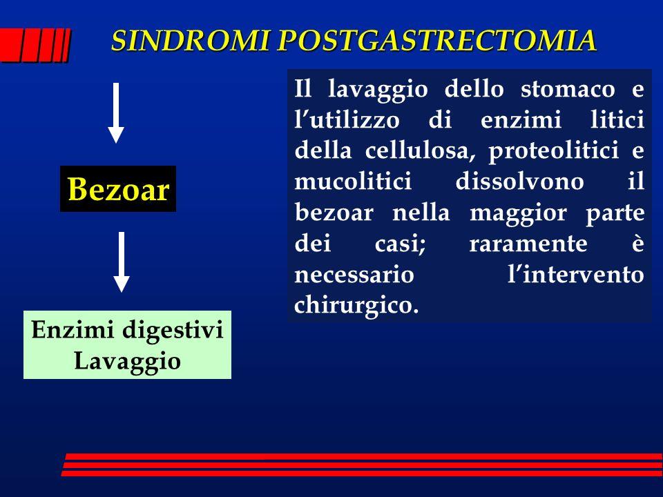 Il lavaggio dello stomaco e l'utilizzo di enzimi litici della cellulosa, proteolitici e mucolitici dissolvono il bezoar nella maggior parte dei casi; raramente è necessario l'intervento chirurgico.