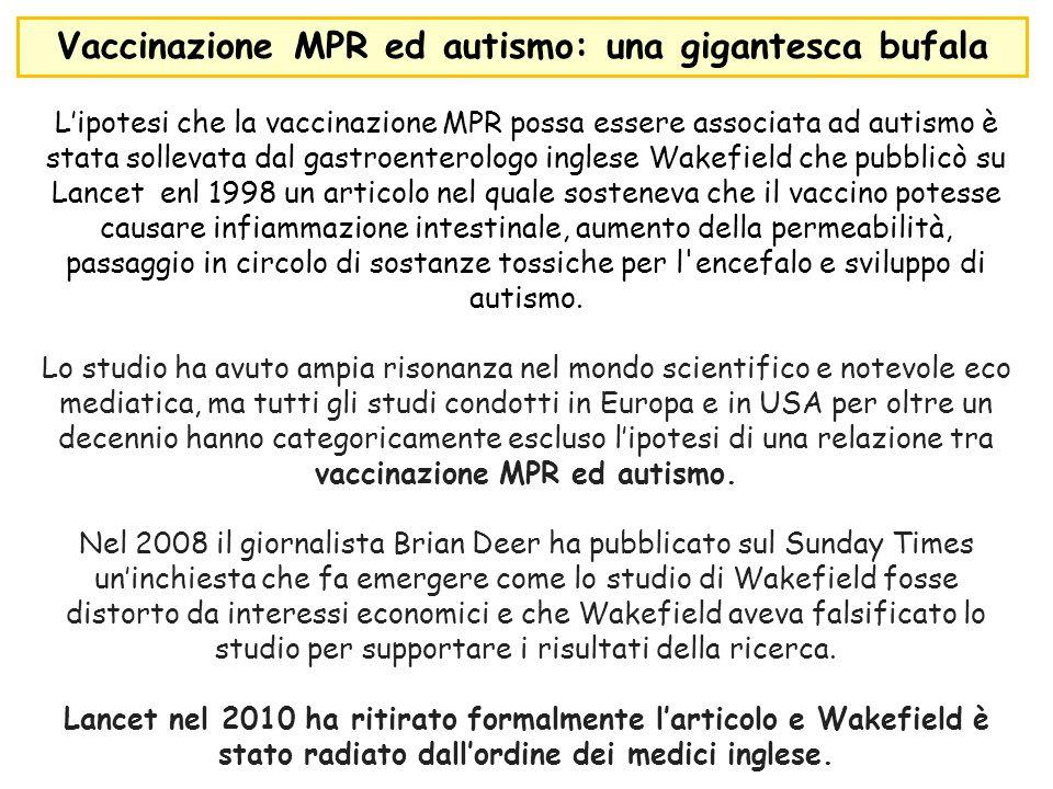 Vaccinazione MPR ed autismo: una gigantesca bufala