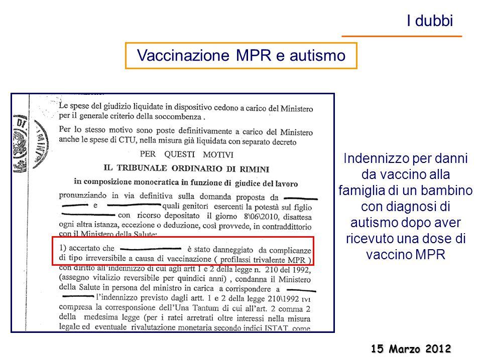Vaccinazione MPR e autismo