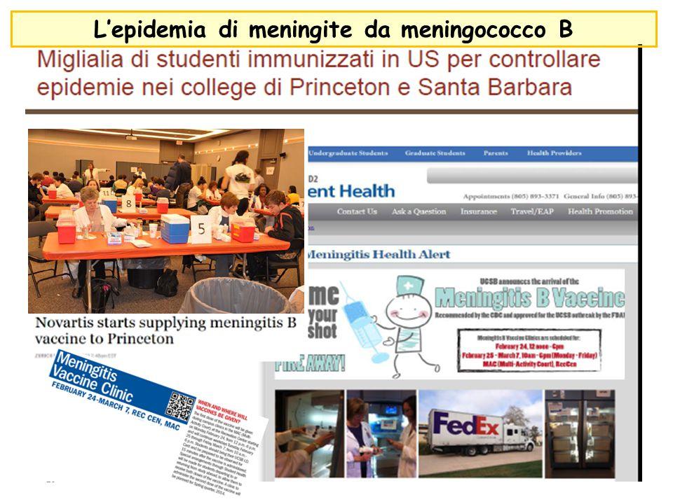 L'epidemia di meningite da meningococco B