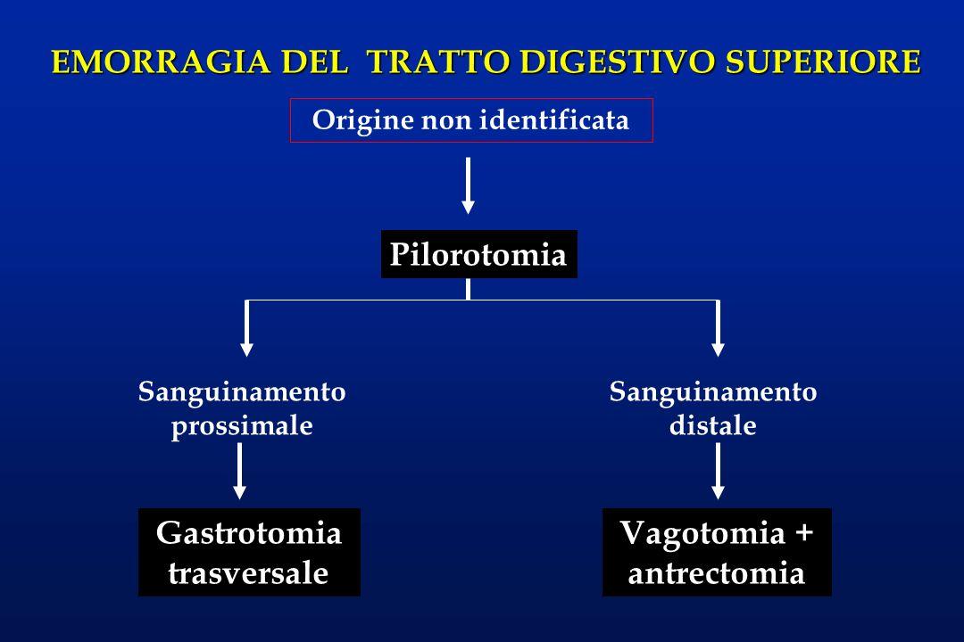 Gastrotomia trasversale Vagotomia + antrectomia