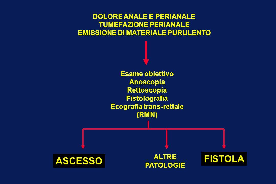FISTOLA ASCESSO DOLORE ANALE E PERIANALE TUMEFAZIONE PERIANALE