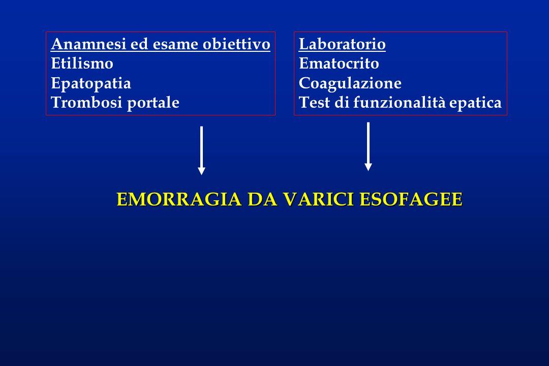 EMORRAGIA DA VARICI ESOFAGEE