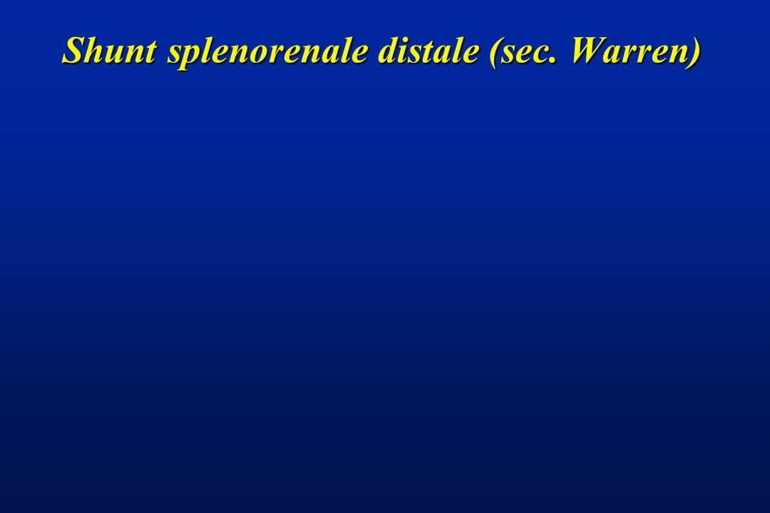 Shunt splenorenale distale (sec. Warren)