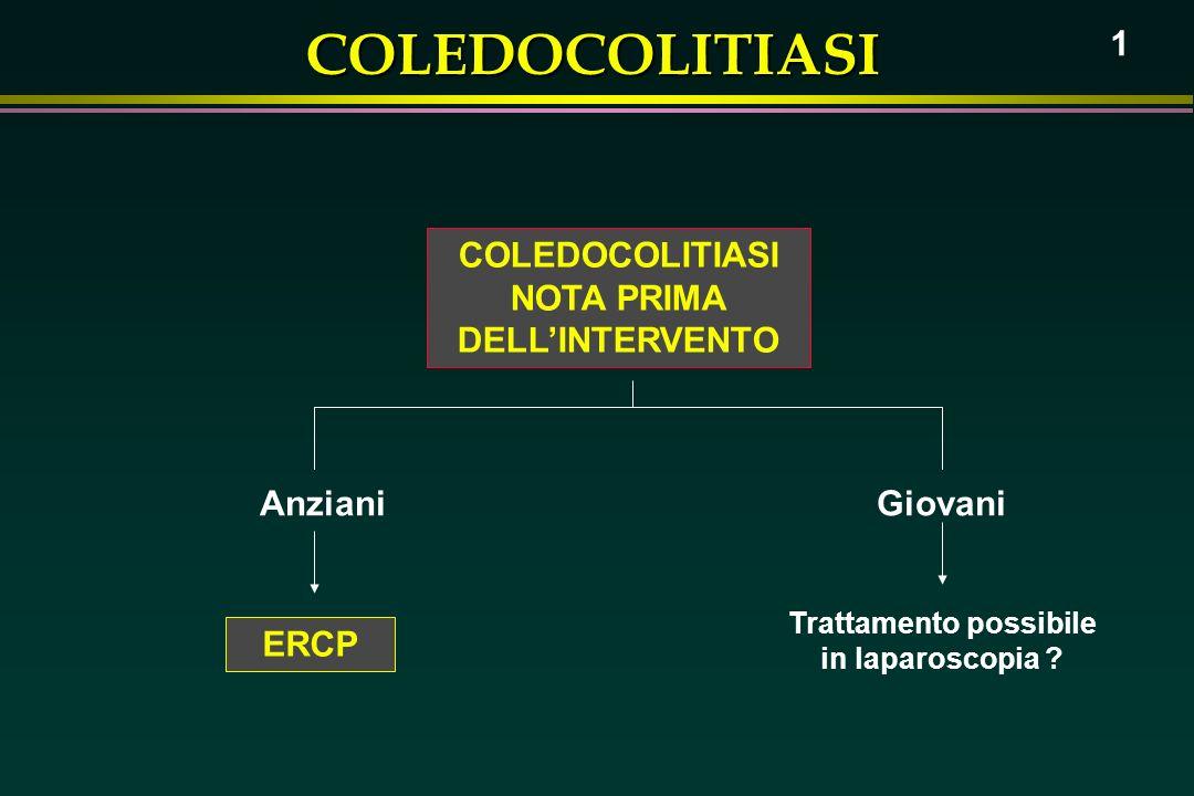 NOTA PRIMA DELL'INTERVENTO Trattamento possibile in laparoscopia