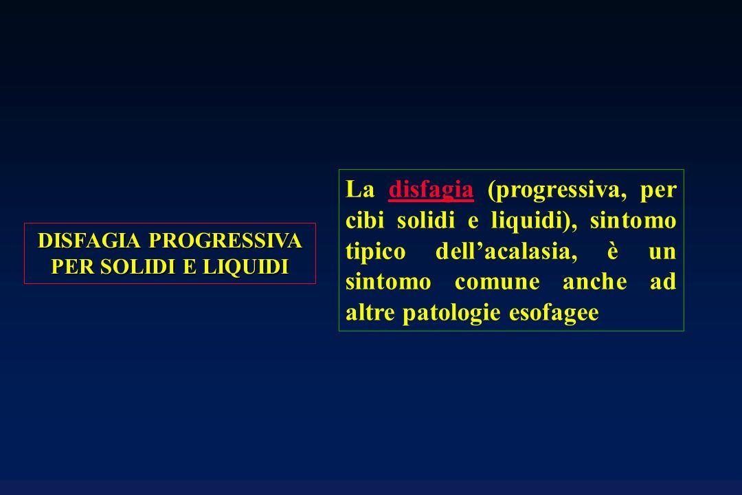 DISFAGIA PROGRESSIVA PER SOLIDI E LIQUIDI