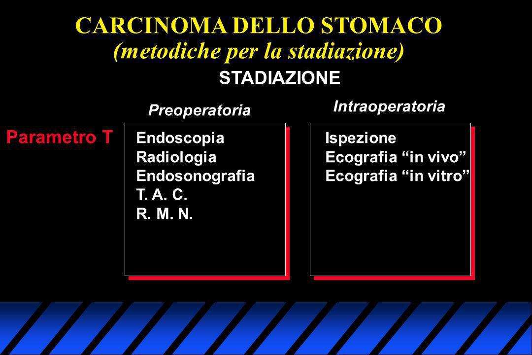 CARCINOMA DELLO STOMACO (metodiche per la stadiazione)