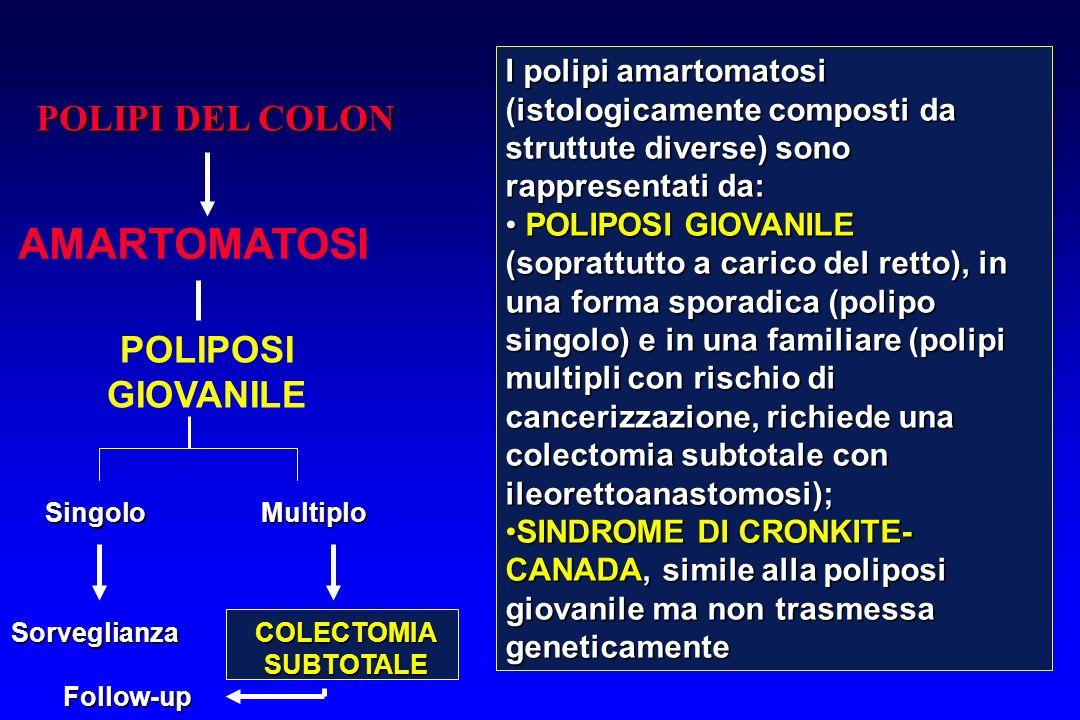 AMARTOMATOSI POLIPI DEL COLON POLIPOSI GIOVANILE