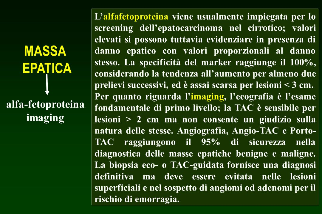 MASSA EPATICA alfa-fetoproteina imaging