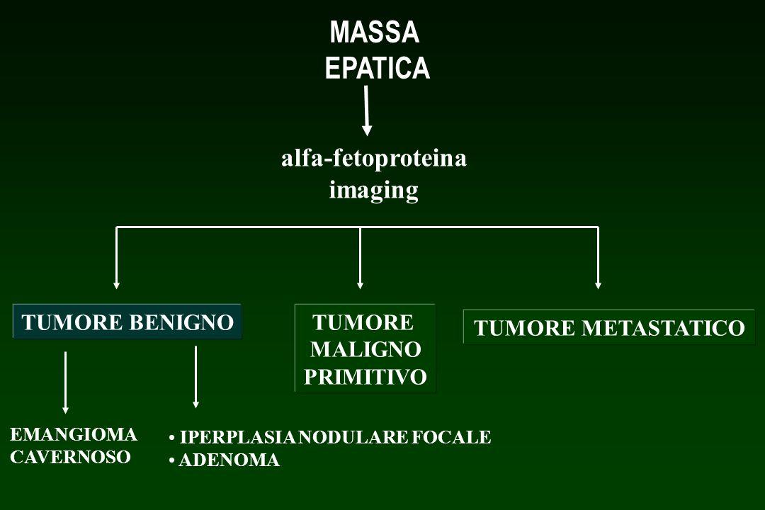 MASSA EPATICA alfa-fetoproteina imaging TUMORE BENIGNO TUMORE MALIGNO