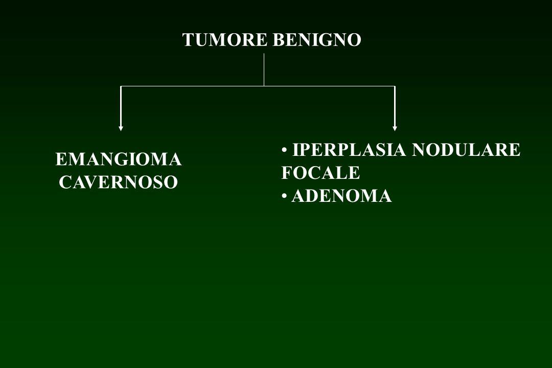 TUMORE BENIGNO IPERPLASIA NODULARE FOCALE ADENOMA EMANGIOMA CAVERNOSO