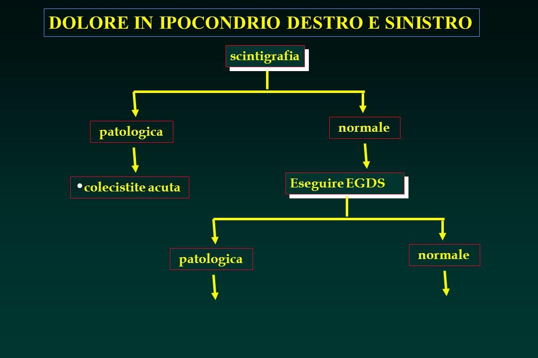 scintigrafia normale patologica Eseguire EGDS colecistite acuta normale patologica