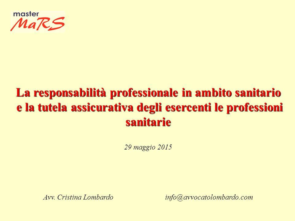 La responsabilità professionale in ambito sanitario