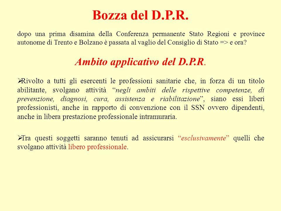 Ambito applicativo del D.P.R.